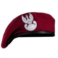 Polski Beret Wojskowy z Orłem Bordowy #beret, #wojskowy, #polski, #orzeł, #bordowy