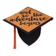 Graduation Cap Topper - Adventure #graduation #cap #topper #quote #graduation Graduation Cap Toppers, Graduation Cap Decoration, Grad Cap, College Graduation, Graduation Gifts, Memes Lol, Batman Wedding, Cap And Gown, Grad Parties