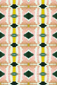 Lindsay Cowles peach green wallpaper