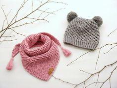 Knitting pattern - knit hat - drawstring hat with bow- - Fingerloser hand. Knitting pattern – knit hat – drawstring hat with bow- – Fingerloser handschuh – Baby Knitting Patterns, Christmas Knitting Patterns, Arm Knitting, Baby Patterns, Crochet Patterns, Baby Scarf, Lang Yarns, Paintbox Yarn, Red Heart Yarn
