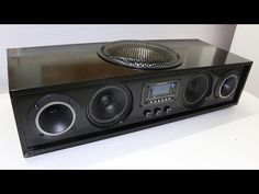 (or How to DIY a Homemade Boombox w subwoofer) ============================================ Basic . Audio Amplifier, Hifi Audio, Audiophile, Car Audio, Diy Bluetooth Speaker, Diy Speakers, Subwoofer Box Design, Speaker Box Design, Electronics Mini Projects