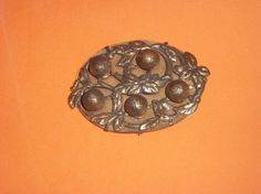 1920's Era Sash Acorn Brooch by pasttimejewelry on Etsy, $45.00