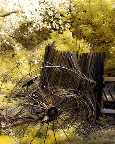 Cool picture, old hay rake