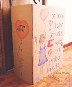 Caixas para vitrine da campanha Carmim para o Dia dos Namorados!