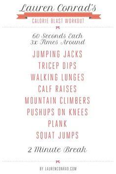 Calorie Blast Workout