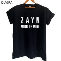 >> Click to Buy << DLVIRA S-3XL Zayn Malik One Direction Shirt  Mind of Mine Letters Print Women T Shirt Casual Cotton Funny Shirt for Lady Top Tee #Affiliate