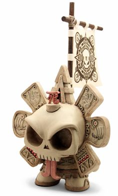 When great artists get together  Skullendario Azteca by Huck Gee x The Beast Brothers