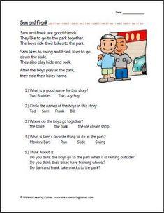 Reading Comprehension - Sam and Frank