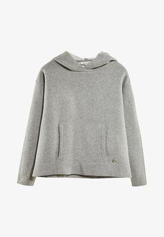 Massimo Dutti Bluza z kapturem - gray - Zalando. Cotton Sweater, Grey Sweater, Jumper, Massimo Dutti Online, Pullover, Girls Sweaters, Shirts For Girls, Boy Or Girl, Hoods