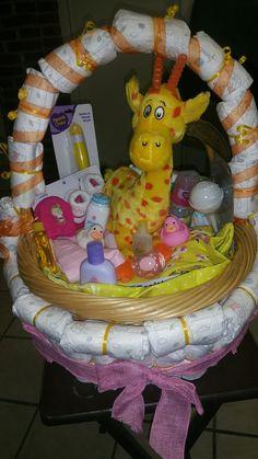 Diaper baby geraff basket