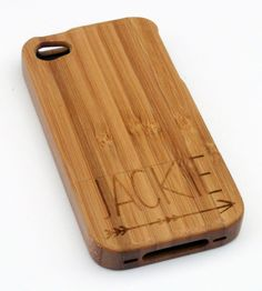 Customizable bamboo iPhone case. Pretty cool, plus bamboo is incredibly strong, so it's super protective.