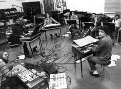 Philip Glass and ensemble in 1977