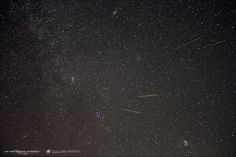 I missed it but I hope you saw it!!!!!  Scott MacNeill created this wonderful composite image of 2013 Perseid meteors at Frosty Drew Observatory in Charlestown, Rhode Island, USA. We love this image, because you can see the meteors coming from their radiant point in the constellation Perseus. Thank you, Scott! Visit Scott's website, Exit Pupil Creative Workshop
