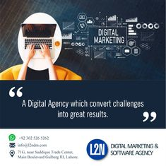 L2N a professional digital marketing company which is here to offer you professional digital marketing services such as SEO, SMM, web development, web design, mobile app and many more services at best price.  L2N is a well-known digital marketing company, which is offering services like SEO, SMM, PPC, web development, website design, mobile apps and domain/hosting services to business companies at market competitive prices.  Give us a call @ 0302-5265262 Send us an email at info@l2ndm.com