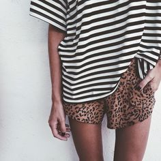love leopard + stripes
