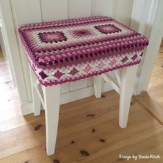Made with Love crochet stool cover - Swedish blog