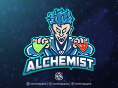 Alchemist Esport Logo | Mad Scientist Mascot Logo Sport by Sentinel Graphic