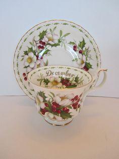 Royal Albert Christmas Rose Teacup & Saucer by CuriousCatVintage