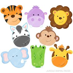 free printable jungle animals zoo and jungle animals clipart rh pinterest com Animal Clip Art Free Printable free jungle animal border clipart