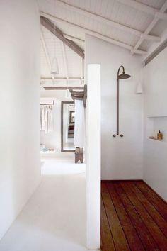 Bathroom in beach house in Brazil via Style Files