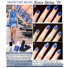 """""""MANICURE MUSE: Kenzo Spring '14"""" by kusja on Polyvore"""