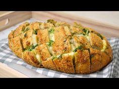 Cuuking! Recetas de cocina: Pan relleno de queso, ajo y perejil ¡Fácil y delicioso!