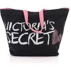 Victoria's Secret Tote (115 BRL) ❤ liked on Polyvore featuring bags, handbags, tote bags, black, tote hand bags, victoria secret tote bag, victoria secret handbags, hand bags and handbags totes