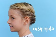 Heading to a party? Or a kindergarten graduation? This easy updo is perfect for all your kid's special occasions.