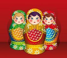 Matryoshka is traditional russian souvenir