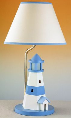 Lighthouse Lamp Nautical Island Decor Pinterest And Kids Rooms