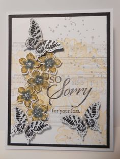 Petite Petals Sympathy by Linda Creech, When I first saw this card I knew I would have to make one my self. Thanks so much to Julie Gearinger for the lovely original.