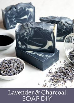Lavender Charcoal Soap DIY
