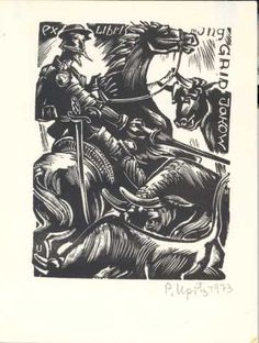 Upitis, Peteris Augustovich; Letonia    ex Libris Ing. GRID Jakow, 1973    (Grid, Jakow; Letonia)