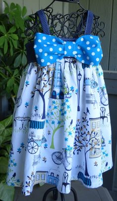 Beautiful little girls dress in Paris print by EmelineDesign on Etsy