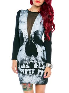 """Women's """"Loose Tooth"""" Dress by Iron Fist (Black) #InkedShop #skull #dress #style #fashion"""