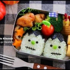 This is Halloween, This is Halloween! Bento Box Lunch, Lunch Boxes, Cute Bento, Food Decoration, Japanese Food, Food Art, Kids Meals, Halloween Party, Sushi