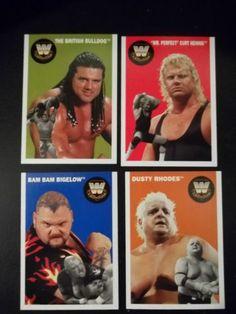 2006 Topps Heritage WWE Series II Lot of 4 # 74, 77, 78, 79