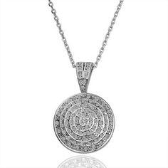 White Gold Plated Swarovski Elements Shield Necklace