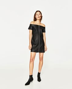 89e43b260b72 Image 1 of LEATHER-EFFECT DRESS from Zara Zara Mode