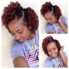 Natural Hair styles Beautiful twist outs ( loose, 3 strand, flat) on natural hair, short hair, log hair. Cut loose twistout hairstyles for defined, perfect curls. teamblackhurromg http://www.shorthaircutsforblackwomen.com/curl-defining-products/