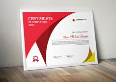 Certificate by Curve Design on Stationery Templates, Stationery Design, Print Templates, Design Templates, Company Brochure, Business Brochure, Business Card Logo, Certificate Layout, Certificate Templates