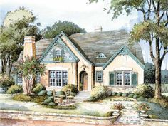 French Country House Plan with 2680 Square Feet and 3 Bedrooms from Dream Home Source | House Plan Code DHSW42721