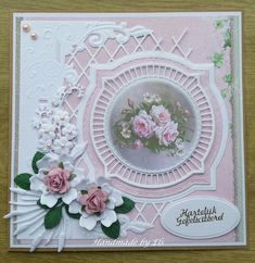 Wedding Anniversary Cards, Wedding Cards, Diy And Crafts, Paper Crafts, Spellbinders Cards, Die Cut Cards, Marianne Design, Heartfelt Creations, Pretty Cards