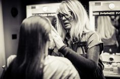 Val Garland working her magic backstage at our London Fashion Week AW14 show