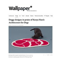 Featured again on Wallpaper Magazine. Check out the article at wallpaper.com/design/in-praise-of-kenya-hara-architecture-for-dogs-design-miami #architecturefordogs