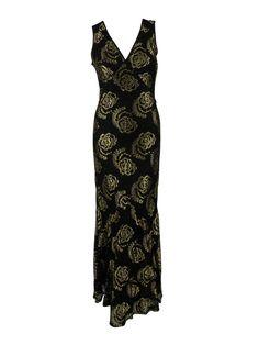 46616043313e64 MADE for Impulse Womens Black Metallic Print Lace Sleeveless Dress S. AJM  FASHIONS