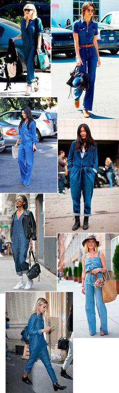 macacão estilo anos 70 Look Anos 70, Roupas Anos 70, Jardineira Jeans, Dicas 09fb319a83