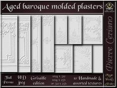 Aged Baroque moulded plasters