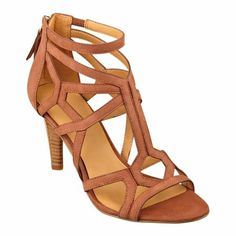 New from Nine West. This shoe has it all. Comfort footbed, sexy straps and a stacked heel that will be noticed! #ninewestshoes #ninewest #sandals #fashionsandals #summersandals #cagedsandals #2014fashion