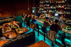 Wednesday, November 2015 After finishing up at Himitsu Lounge in Buckhead, I headed over to Decatur to see the newly opened S., tiki torches light th… Tiki Restaurant, Restaurant Design, Tiki Lights, Atlanta Restaurants, Bar Interior, Interior Ideas, Interior Design, Tiki Torches, Cool Bars